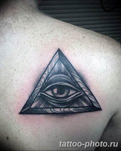 фото рисунка тату глаз в треугольнике 27.11.2018 №023 - tattoo of eyes - tattoo-photo.ru
