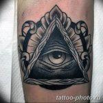 фото рисунка тату глаз в треугольнике 27.11.2018 №024 - tattoo of eyes - tattoo-photo.ru