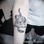 фото рисунка тату глаз в треугольнике 27.11.2018 №029 - tattoo of eyes - tattoo-photo.ru