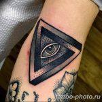 фото рисунка тату глаз в треугольнике 27.11.2018 №039 - tattoo of eyes - tattoo-photo.ru