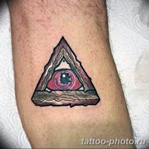фото рисунка тату глаз в треугольнике 27.11.2018 №051 - tattoo of eyes - tattoo-photo.ru
