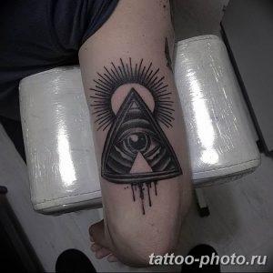 фото рисунка тату глаз в треугольнике 27.11.2018 №055 - tattoo of eyes - tattoo-photo.ru
