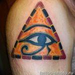 фото рисунка тату глаз в треугольнике 27.11.2018 №147 - tattoo of eyes - tattoo-photo.ru