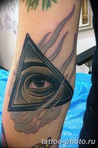 фото рисунка тату глаз в треугольнике 27.11.2018 №165 - tattoo of eyes - tattoo-photo.ru