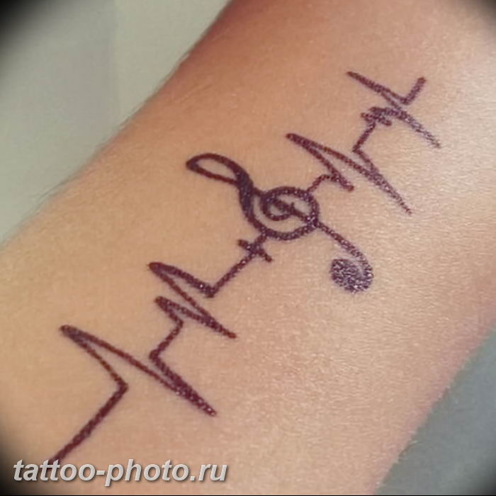 фото рисунка тату пульс 30.11.2018 №119 - photo tattoo pulse - tattoo-photo.ru