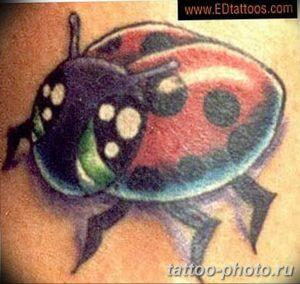 фото идея тату божья коровка 22.12.2018 №047 - photo ladybug tattool- tattoo-photo.ru