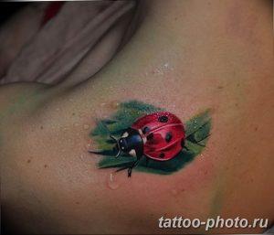 фото идея тату божья коровка 22.12.2018 №057 - photo ladybug tattool- tattoo-photo.ru