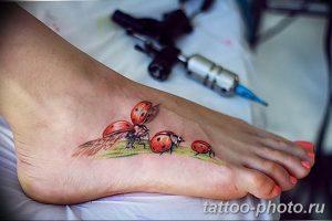 фото идея тату божья коровка 22.12.2018 №108 - photo ladybug tattool- tattoo-photo.ru