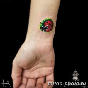 фото идея тату божья коровка 22.12.2018 №136 - photo ladybug tattool- tattoo-photo.ru