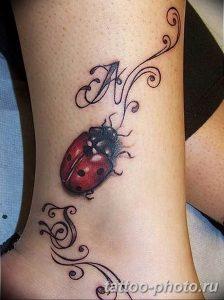 фото идея тату божья коровка 22.12.2018 №137 - photo ladybug tattool- tattoo-photo.ru