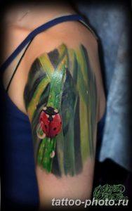 фото идея тату божья коровка 22.12.2018 №165 - photo ladybug tattool- tattoo-photo.ru