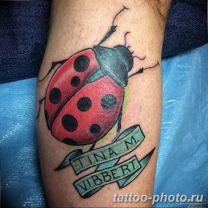 фото идея тату божья коровка 22.12.2018 №218 - photo ladybug tattool- tattoo-photo.ru