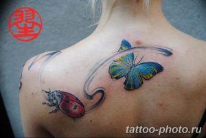 фото идея тату божья коровка 22.12.2018 №256 - photo ladybug tattool- tattoo-photo.ru