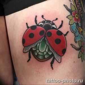 фото идея тату божья коровка 22.12.2018 №313 - photo ladybug tattool- tattoo-photo.ru