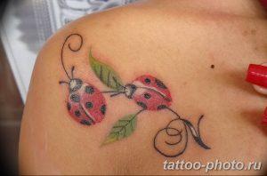 фото идея тату божья коровка 22.12.2018 №344 - photo ladybug tattool- tattoo-photo.ru