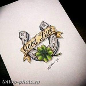фото тату клевер четырехлистный 24.12.2018 №037 - four leaf clover tattoo - tattoo-photo.ru