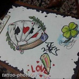 фото тату клевер четырехлистный 24.12.2018 №065 - four leaf clover tattoo - tattoo-photo.ru
