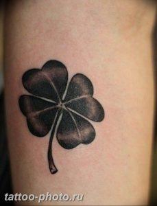 фото тату клевер четырехлистный 24.12.2018 №141 - four leaf clover tattoo - tattoo-photo.ru