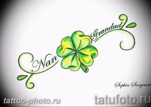 фото тату клевер четырехлистный 24.12.2018 №158 - four leaf clover tattoo - tattoo-photo.ru