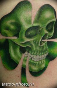 фото тату клевер четырехлистный 24.12.2018 №227 - four leaf clover tattoo - tattoo-photo.ru