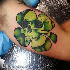 фото тату клевер четырехлистный 24.12.2018 №234 - four leaf clover tattoo - tattoo-photo.ru