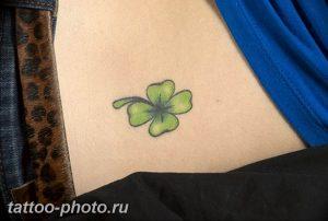 фото тату клевер четырехлистный 24.12.2018 №250 - four leaf clover tattoo - tattoo-photo.ru