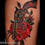 фото тату револьвер 24.12.2018 №132 - photo tattoo revolver - tattoo-photo.ru