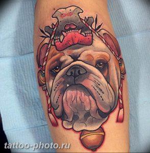 Фото тату бульдог 27.02.2019 №013 - Photo tattoo bulldog - tattoo-photo.ru