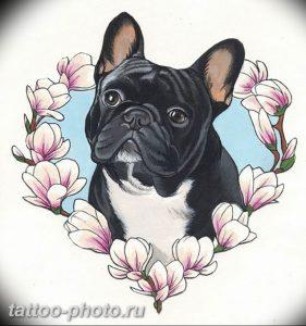 Фото тату бульдог 27.02.2019 №166 - Photo tattoo bulldog - tattoo-photo.ru