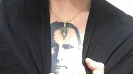 тату с Путиным на груди 03.02.2019 №004 - tattoo with Putin on his chest - tattoo-photo.ru