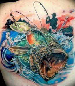 фото тату рыбацкий крючек 08.02.2019 №124 - photo tattoo fishing hook - tattoo-photo.ru