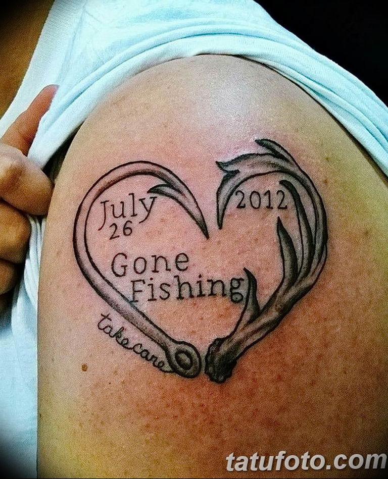 фото тату рыбацкий крючек 08.02.2019 №128 - photo tattoo fishing hook - tattoo-photo.ru