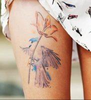 Фото тату цветок колокольчики 15.04.2019 №041 — ideas flower bells tattoo — tattoo-photo.ru
