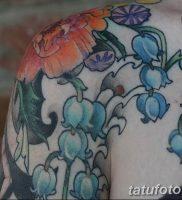 Фото тату цветок колокольчики 15.04.2019 №047 — ideas flower bells tattoo — tattoo-photo.ru
