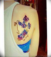 Фото тату цветок колокольчики 15.04.2019 №053 — ideas flower bells tattoo — tattoo-photo.ru