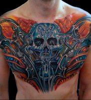 фото вариант биомеханические тату 06.04.2019 №042 — tattoo biomechaniс — tattoo-photo.ru