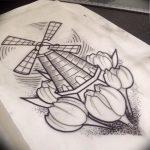 фото вариант тату цветок тюльпана 06.04.2019 №036 - tulip tattoo - tattoo-photo.ru
