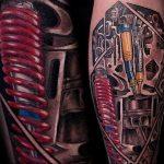 фото идея биомеханические тату 06.04.2019 №002 - tattoo biomechaniс - tattoo-photo.ru