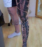 фото идея биомеханические тату 06.04.2019 №006 — tattoo biomechaniс — tattoo-photo.ru