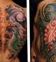 фото идея биомеханические тату 06.04.2019 №011 — tattoo biomechaniс — tattoo-photo.ru
