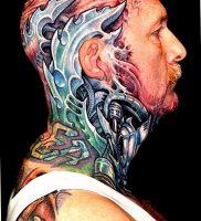 фото идея биомеханические тату 06.04.2019 №012 — tattoo biomechaniс — tattoo-photo.ru