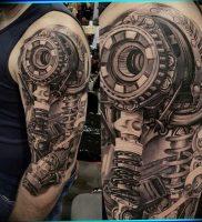 фото идея биомеханические тату 06.04.2019 №020 — tattoo biomechaniс — tattoo-photo.ru