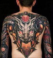 фото идея биомеханические тату 06.04.2019 №023 — tattoo biomechaniс — tattoo-photo.ru