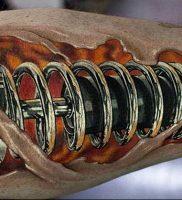 фото идея биомеханические тату 06.04.2019 №026 — tattoo biomechaniс — tattoo-photo.ru
