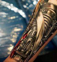 фото идея биомеханические тату 06.04.2019 №033 — tattoo biomechaniс — tattoo-photo.ru