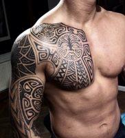 фото оберегающие тату на плече 03.04.2019 №005 — shoulder tattoos — tattoo-photo.ru