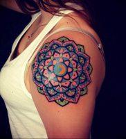 фото оберег мандала тату 03.04.2019 №094 — Mandala tattoos — tattoo-photo.ru