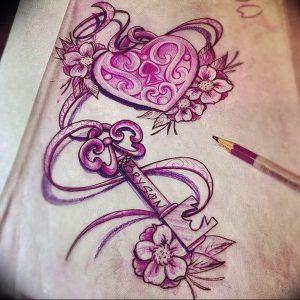 фото тату Ключ 03.05.2019 №109 - tattoo key - tattoo-photo.ru