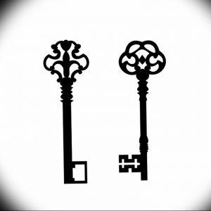 фото тату Ключ 03.05.2019 №176 - tattoo key - tattoo-photo.ru