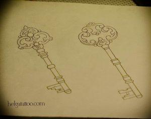 фото тату Ключ 03.05.2019 №199 - tattoo key - tattoo-photo.ru